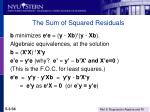 the sum of squared residuals