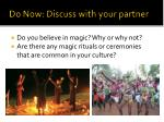 do now discuss with your partner