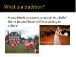 what is a tradition