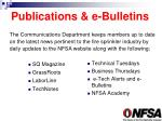 publications e bulletins