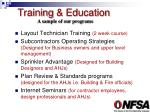 training education1