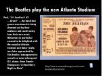 the beatles play the new atlanta stadium