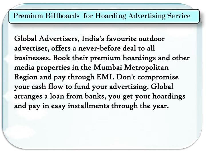 Premium Billboards  for Hoarding