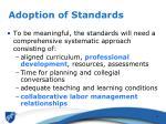 adoption of standards