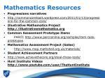 mathematics resources