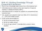 shift 1 building knowledge through content rich nonfiction