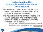 understanding the standards and the key shifts they require