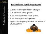 factoids on food production