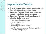 importance of service