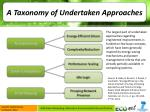 a taxonomy of undertaken approaches