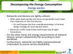 decomposing the energy consumption energy wastes