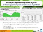 decomposing the energy consumption is the energy consumption currently load dependent
