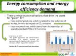 energy consumption and energy efficiency demand