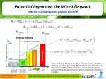 potential impact on the wired network e nergy consumption model outline