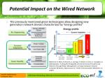 potential impact on the wired network