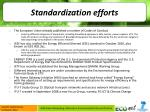 standardization efforts