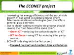 the econet project