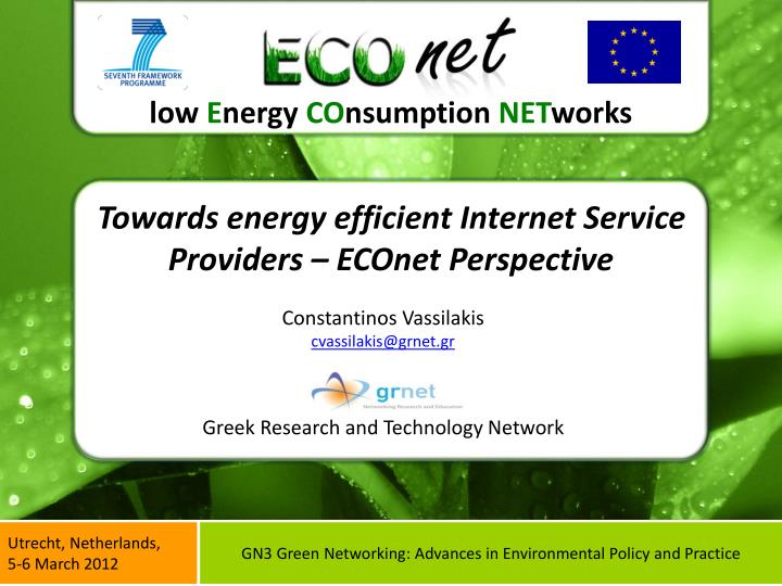 towards energy efficient internet service providers econet perspective n.