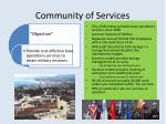 community of services