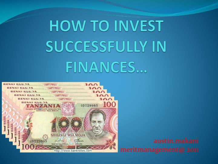 how to invest successfully in finances n.