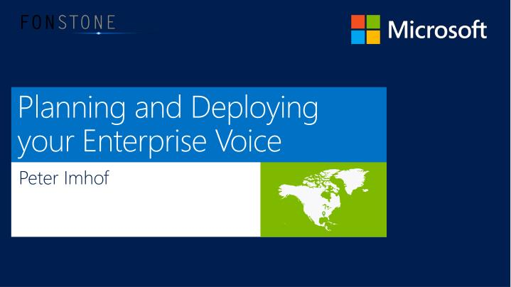 planning and deploying your enterprise voice n.