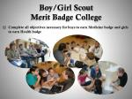 boy girl scout merit badge college