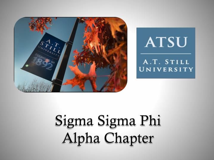 sigma sigma phi alpha chapter n.