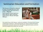 seminarian education and formation