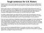 tough sentences for u k rioters