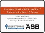 how does nicotine addiction start data from the year 10 survey