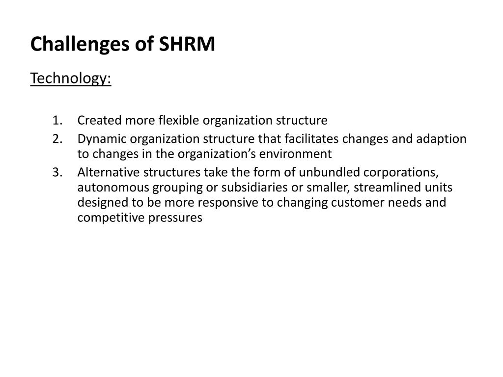 PPT - Challenges in SHRM PowerPoint Presentation - ID:1669112