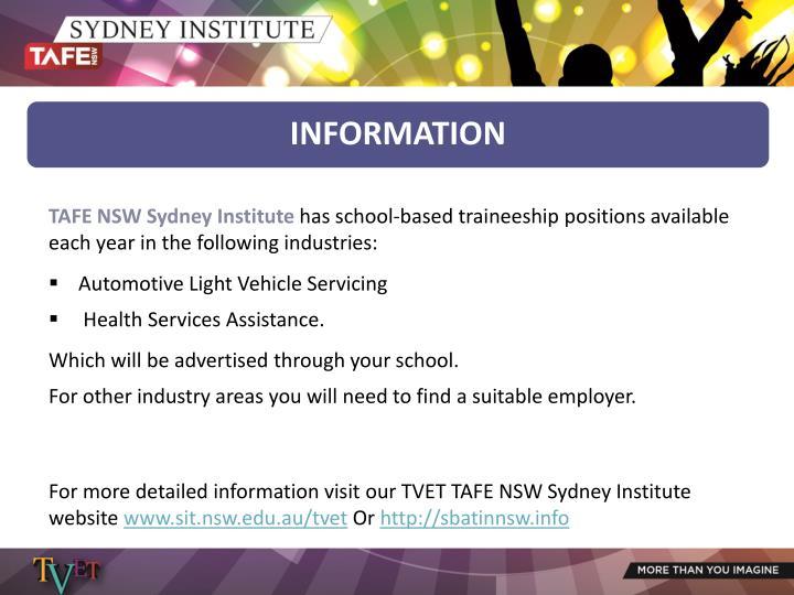 TAFE NSW Sydney Institute