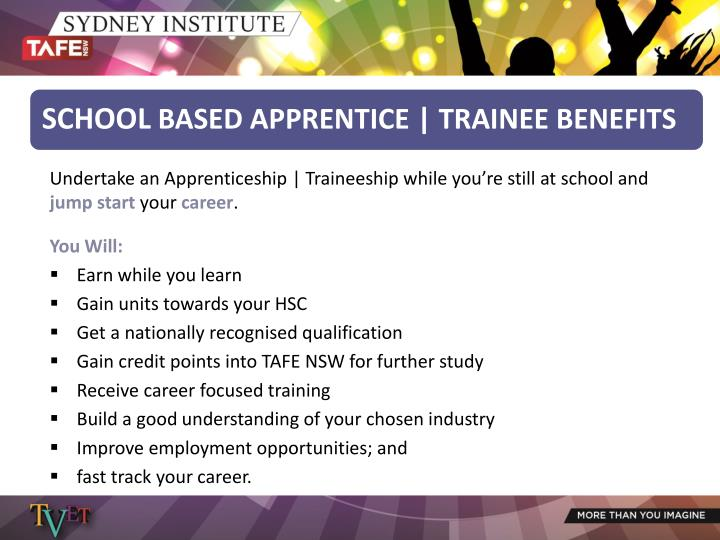 Undertake an Apprenticeship | Traineeship while you're still at school and