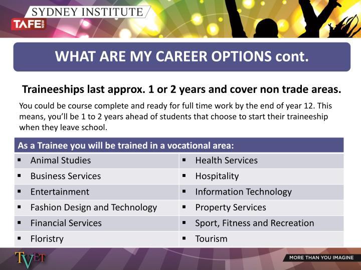Traineeships last