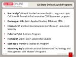 cal state online launch programs