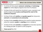 what is the cal state online vision