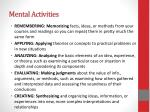 mental activities