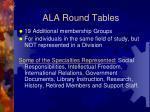 ala round tables