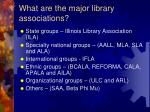 what are the major library associations