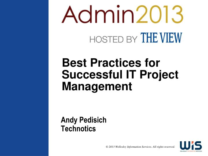 best practices for successful it project management n.