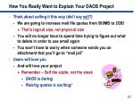 how you really want to explain your daos project