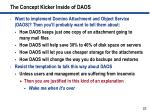 the concept kicker inside of daos