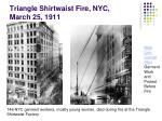 triangle shirtwaist fire nyc march 25 1911