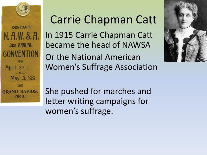 Carrie Chapman Catt