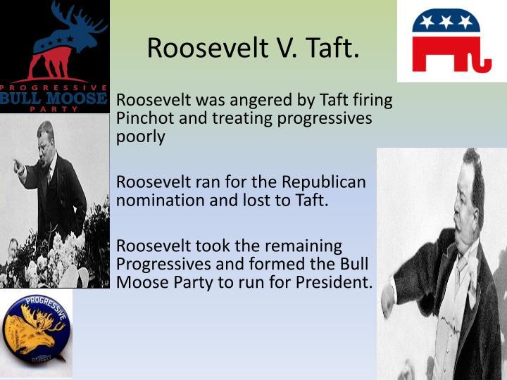 Roosevelt V. Taft.