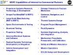 msfc capabilities of interest to commercial partners