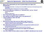 space act agreements what you should know