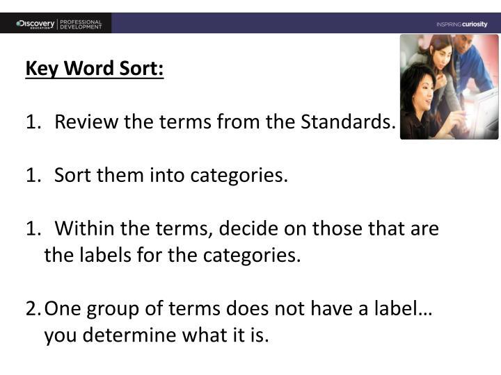 Key Word Sort: