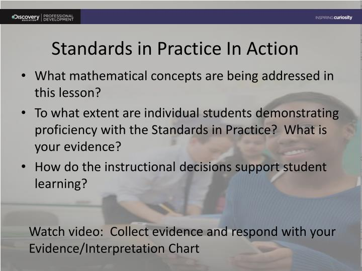 Standards in Practice In Action