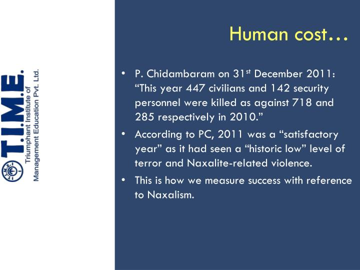 Human cost1